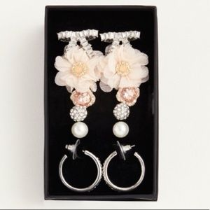 🆕 Torrid 6 pc Earring Jewelry Set Floral Bow Stud